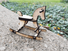 Rocking Horse Template Free DXF File