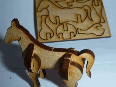 Tiny Lasercut Horse Free DXF File