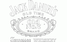 Jack Daniel Tennessee Whiskey Logo Free DXF File