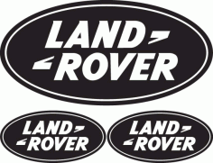Land Rover Logo Free DXF File
