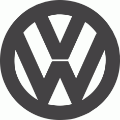 Volkswagen Logo Free DXF File