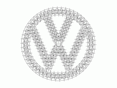 Vw Logo Vector Free DXF File