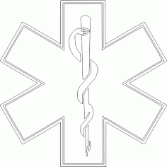 Star Of Life Logo Free DXF File