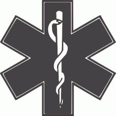 Life Cross Logo Free DXF File