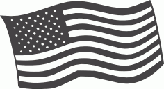 Free American Flag Logo DXF File