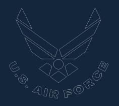Blue Us Af Logo Free DXF File