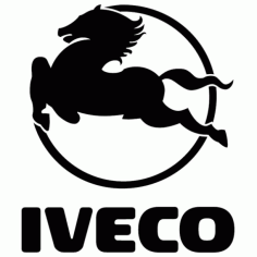 Iveco Logo Vector Free DXF File