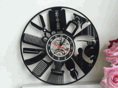 Clock Orologi Vinile Free DXF File