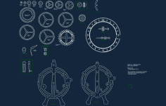 Clock Models Free DXF File