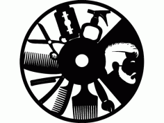 Hak Erkek Kuaf R Saati Free DXF File