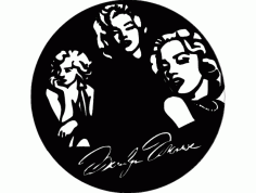 Marilyn Clock Free DXF File