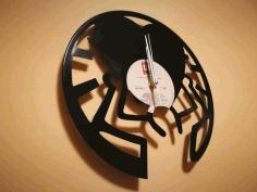 Clock Orologi Vinile Cuore Free DXF File