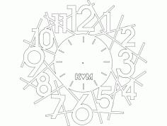 Saat Km Clock Free DXF File