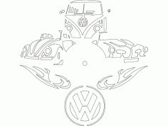 Vw Clock Free DXF File