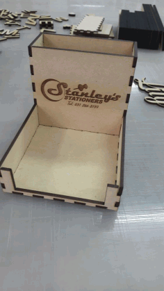 Laser Cut Pen Paper Holder 3mm Free DXF File