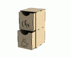 Laser Cut Tea Box With Drawers Free DXF File