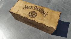 Laser Cut Whisky Bottle Holder Free DXF File