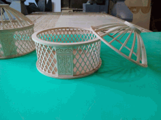 Mongolian Yurt Shaped Box Free DXF File