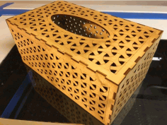 Tissue Box Weave 3mm Birch Plywood Free DXF File