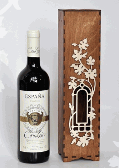 Wine Box Wine Case Laser Cut Template Free DXF File