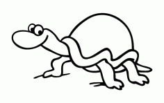 Sea Turtle Line Art Free DXF File