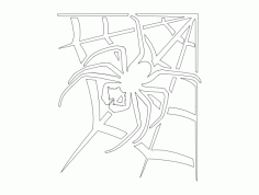 Spider With Web Free DXF File