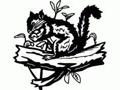 Squirrel And Plants Free DXF File