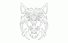 Tribal Wolf Free DXF File