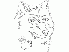 Wolf Head Free DXF File