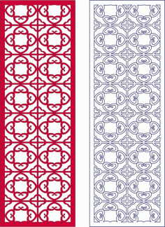 2d Vector Panel Pattern Free DXF File