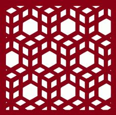 3d Cubes Laser Cut Pattern Free DXF File