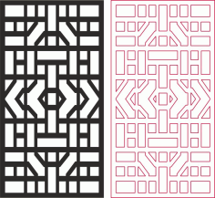 Abstract Geometric Pattern Free DXF File
