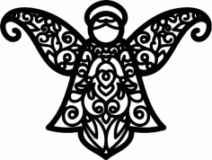 Angel Pattern Free DXF File
