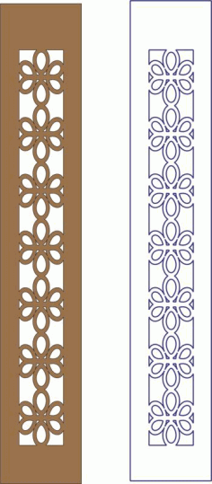 Flower Decorative Frame Pattern Free DXF File