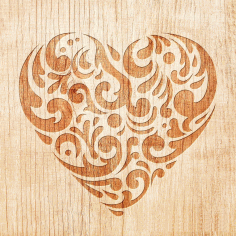 Laser Cut Engraving Decorative Heart Pattern Free DXF File