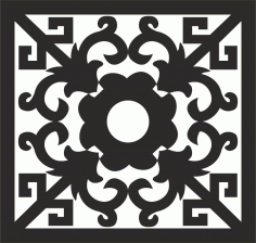 Ornamental Pattern Design Free DXF File