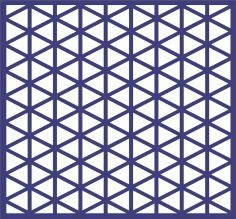 Repeating Triangle Pattern Free DXF File