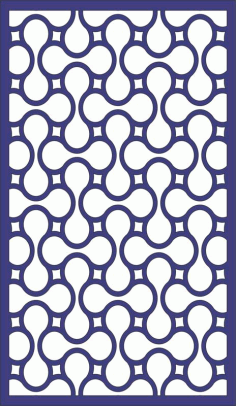 Seamless Separator Panel Pattern Free DXF File