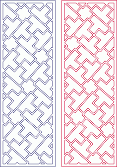 Vector Modern Abstract Geometry Tetris Pattern Free DXF File