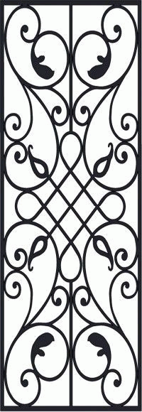 Victorian Iron Pattern Free DXF File
