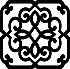 Wrought Iron Frame Pattern Free DXF File