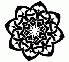 Celtic Art Pattern Free DXF File