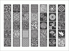 Decorative Screen Patterns Collection Free DXF File