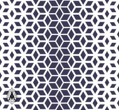 Decorative Seamless Geometric Pattern Background Free DXF File