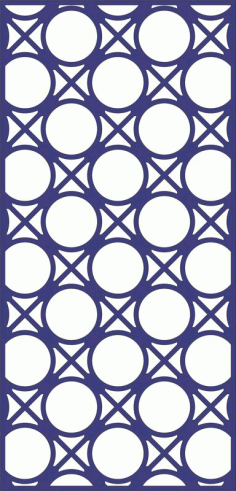 Design Of Decorative Circle Pattern Panel Free DXF File