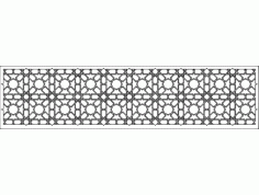 Grille Patterns spr10x2 Free DXF File