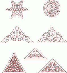 Moroccan Pattern Eastern Traditional Style Free DXF File