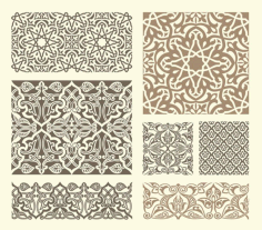 Scrollwork Islamic Pattern Collection Free DXF File