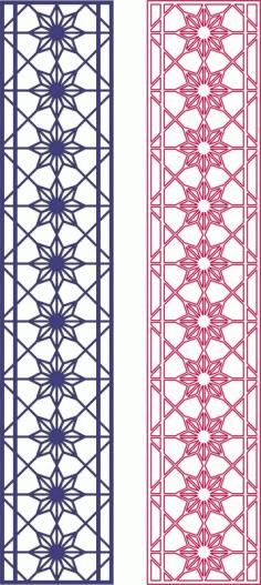 Seamless Star Pattern Design Free DXF File