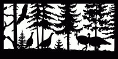 24 X 48 Four Turkeys And An Eagle Plasma Art Free DXF File